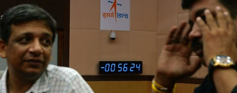 Start von Indiens erster Mondlandemission abgebrochen